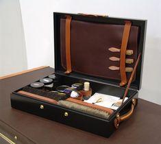 shoeshine case | Luxury Shoe Shine Kits http://gentlemanlifestyle.com/shoe-shining-the-knowledge-mr-porter/