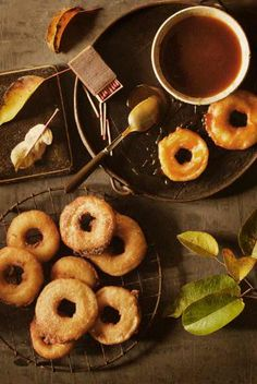 Apple Beignets with Caramel Sauce - http://www.sweetpaulmag.com/food/apple-beignets-with-caramel-sauce #sweetpaul