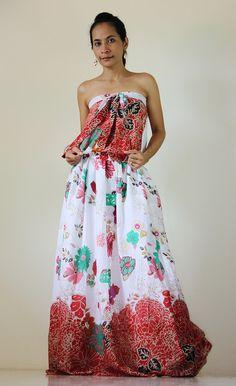Strapless Maxi dress Halter Summer Sun Long dress : Morning Sunshine Collection