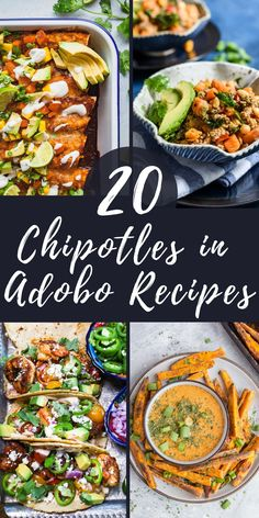 Left with half a can of chipotle peppers? Learn how to store and use this smoky, spicy pantry staple with 20 canned chipotles in adobo sauce recipes! Recipes With Chipotle Sauce, Chipotle In Adobo Sauce, Sauce Recipes, Chicken Recipes, Chipotle Pepper, Smoker Recipes, Rib Recipes, Mexican Breakfast Recipes, Party