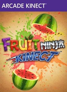 Your arms are now the blades, and about to get a good workout, in the ultimate man vs fruit showdown #FruitNinjaKinect (E) #Xbox #Kinect