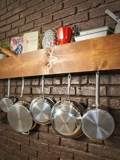 DIY Kitchen Storage Shelf and Pot Rack | Easy Crafts and Homemade Decorating & Gift Ideas | HGTV