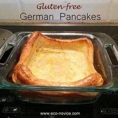 German Pancakes (just as good as the wheat version!) ~ Eco-noviceGluten-free German Pancakes (just as good as the wheat version! Gluten Free Recipes For Breakfast, Gluten Free Pancakes, Gluten Free Breakfasts, Gluten Free Diet, Foods With Gluten, Gluten Free Cooking, Gluten Free Desserts, Gf Recipes, Dairy Free Recipes