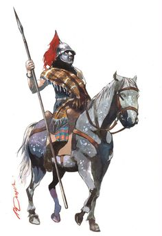 Gallic Horseman II by pegasusandco on DeviantArt