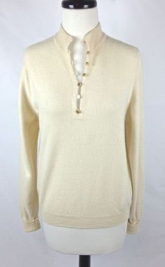 Old Navy Cashmere Sweater Ivory Long Sleeve Women's S | Cashmere ...