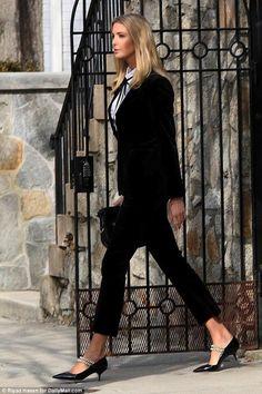 Ivanka Trump wearing Miu Miu Pearl Pumps and Alexis Eliana Blouse