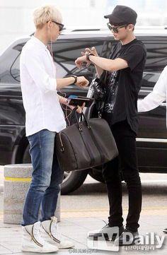 140717- EXO Tao (Huang Zitao) and Park Chanyeol @ Incheon Airport #exom #exok #men #fashion