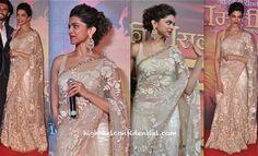 Deepika Padukone In Sabyasachi At Ramleela Trailer First Look Launch