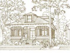 27 Cape Sans Blas house plan by Our Town Plans