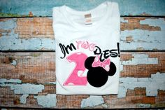 I'm twodles Minnie Mouse birthday Shirt by SpoiledSweetkids