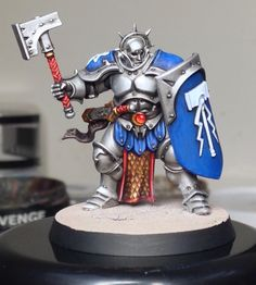 "Games Workshop ""Age of Sigma""   Stormcast Eternal Liberator.  (The free mini in WD75)  Painted by Rich Goss"