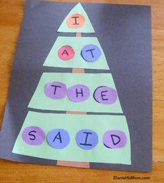 Sight Word Christmas Tree. Love this idea!