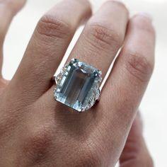 Filigree Engagement Ring, Best Engagement Rings, Aquamarine Engagement Rings, Elizabeth Taylor Ring, Antique Rings, Vintage Rings, Antique Aquamarine Ring, Princess Diana Ring, Stone Rings