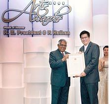 COMCEPTS - For 4 consecutive years from 2005 - 2008, we were honoured to have been appointed by the National Arts Council, Singapore (NAC) to plan and organise the Singapore Arts Awards - the most prestigious state ceremony bestowing honours to Cultural Medallion & Young Artist Award winners.     Held at the Istana and graced by none other than the President of the Republic of Singapore himself, the challenge each year was to present ever-more innovative visual concepts that elevate