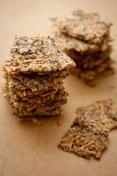Crispity Hazelnut-Parmesan Cracker / @DJ Foodie / DJFoodie.com