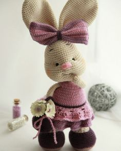 This Pretty Bunny Amigurumi Pattern will help you to create a wonderful crochet toy with a lot of interesting details!