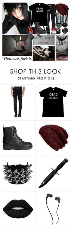 """""""🎶nothing lasts forever, nothing stays the same🎶"""" by xlucasx ❤ liked on Polyvore featuring AMIRI, H&M, King & Fifth Supply Co., Lime Crime, Skullcandy, men's fashion and menswear"""
