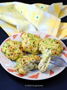 Pieczone kotlety z kurczaka i cukinii #obiad #kotlety #kurczak #cukinia