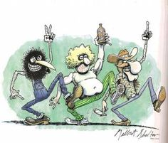 The Fabulous Furry Freak Brothers by Gilbert Shelton. Phineas, Fat Freddy and Freewheelin' Franklin. Some of the most hilarious stories ever ripped off the press.