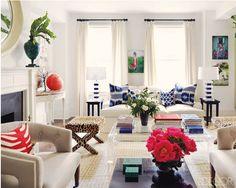 Claiborne Swanson Frank LivingRoom - love everything but the leopard-print stool