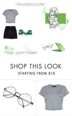 """""""Pidge- Voltron"""" by galauxyz ❤ liked on Polyvore featuring New Look, River Island, Converse, GREEN, pidge, voltron and greenpaladin"""