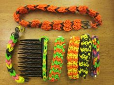 rainbow loom - twist and weave rubber bands into necklaces, bracelets, and more