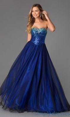 Floor Length Strapless Sweetheart Dress MQ-7030245