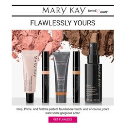 Tips and tricks to set up your face to achieve a flawless finish. Shopping Mary Kay is your first st Mary Kay Foundation, Foundation Sets, How To Match Foundation, Perfect Foundation, Flawless Face, Flawless Makeup, Mary Kay Primer, Makeup Finishing Spray, Mary Kay Party