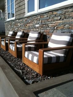 Set some boldly upholstered chairs on your front porch to catch the eyes of passersby.
