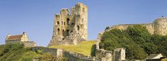 If you are heading to Yorkshire to watch the Tour de Yorkshire, don't forget to pay a visit to the beautiful Scarborough Castle Yorkshire England, North Yorkshire, Scarborough Renaissance Festival, Scarborough Castle, Gothic Castle, Family Days Out, English Heritage, Abandoned Places, Monument Valley