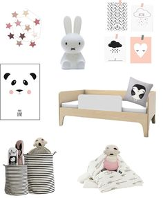 Super cute and super mod! | Kids room ideas: black and white with a hint of pink - ebabee likes : big style for little people
