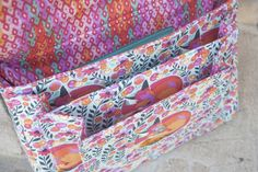 Art or craft supply zippered case sewing pattern