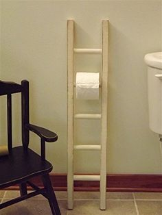 Toilet paper holder/ ladder/ wood/ multi roll/ white/ black/ turquoise/ walnut/ distressed -- Check this awesome product by going to the link at the image. (Amazon affiliate link)