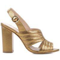 Sandália Costura Dourada