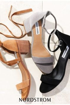 A block-heel sandal featuring a slender ankle strap makes for a sleek, modern finish to your favorite looks.
