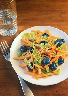 Blueberry and Sweet Potato Slaw