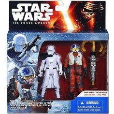 FIRST ORDER SNOWTROOPER OFFICER AND SNAP WEXLEY STAR WARS THE FORCE AWAKENS 2PACK ACTION FIGURE