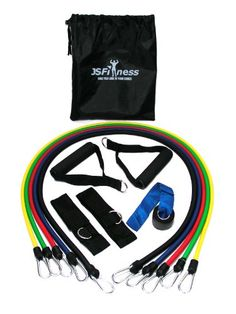 JS Fitness Resistance Band Set - Late... (bestseller)