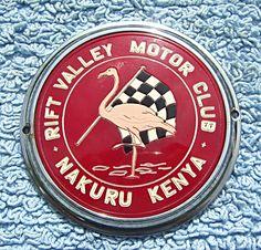Rift Valley Motor Club Badge,Nakuru Kenya
