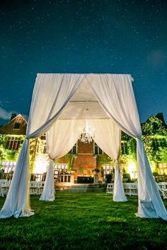 Old World, Fairytale, Mansion Wedding - Ceremony,  Chuppah,  Outdoor Wedding