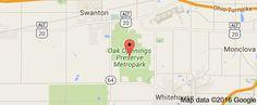 Map of Oak Openings Preserve Metropark