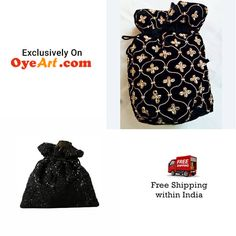 Buy this beautiful and fashionable potli bag with bead-work, add style and grace to your ensemble on all occasions.