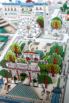 Pop-up Paris Map book by Sylvie Bessard PARIS / Editions Milan. 2013  http://www.sylvie-bessard.com