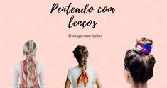 penteado, lenços, dicas de cabelo Movie Posters, Hairstyles With Scarves, Different Hairstyles, Horse Tail, Hair Type, Hair Down Hairstyles, Film Posters, Billboard