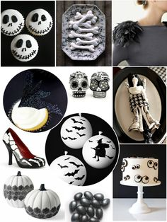 Black and White Halloween Party Ideas! by Bird's Party #blackandwhite #halloween #black #white #party #partyideas