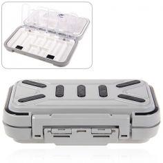 Portable Big Waterproof Box for Fishing Tool - Gray
