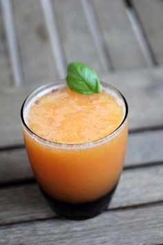 Peach Margarita. Made these tonight, SO DELICIOUS! Must use fresh peaches while you still can, it tastes so fresh.