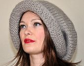 Super Slouchy Beanie  Big Slouch Baggy Hat Winter Adult Teen Fashion  CHOOSE COLOR Dove Naturel Wood Earth Neutral Chunky