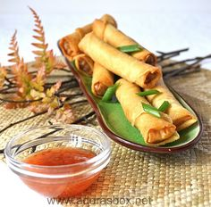 Lumpia -- Filipino egg rolls. SO good!