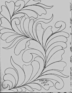 Here& a peek inside my Sketch Book of Quilting Designs. I have been in the mood to draw Wild Vines . Sewing To Sell, Sewing Art, Longarm Quilting, Free Motion Quilting, Machine Quilting Designs, Quilting Ideas, Art Niche, Whole Cloth Quilts, Quilt Labels